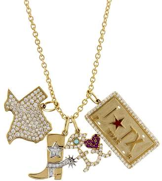 Sydney Evan Texas Charm Necklace - Yellow Gold