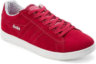 Gola Magenta Equipe Dot Suede Low-Top Sneakers