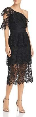 Joie Belisa One-Shoulder Lace Dress