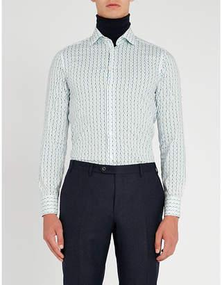 Etro Diamond print regular-fit cotton shirt