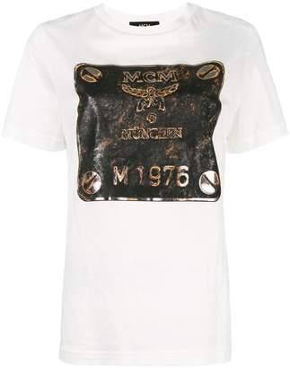 MCM metallic logo print T-shirt