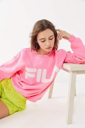 a9fffcc9 Fila UO Exclusive Neon Reflective Logo Crew Neck Sweatshirt