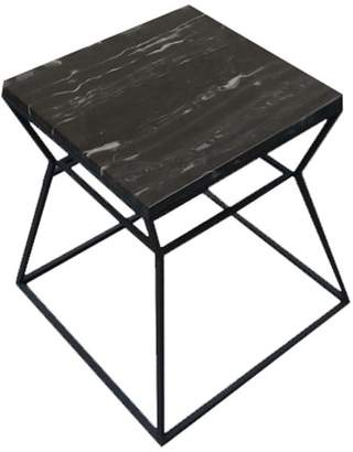 Pangea Home Prism Side Table With Marble Top