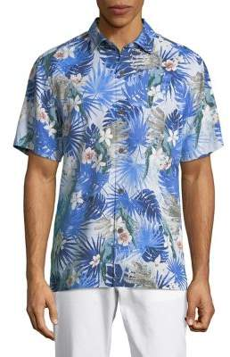 Tommy Bahama Marino Paradise Silk Camp Button-Down Shirt