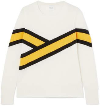 Madeleine Thompson Akiva Striped Cashmere Sweater - Cream