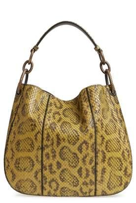 Bottega Veneta Small Loop Genuine Anaconda Snakeskin Leather Hobo