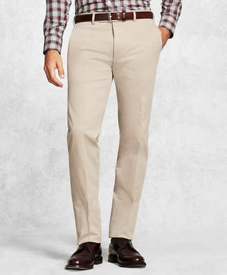 Brooks Brothers Golden Fleece Solid Khaki Dress Trousers