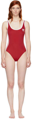 adidas Red 3-Stripes Bodysuit