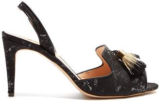 Rupert Sanderson Magda tassle linen sandals