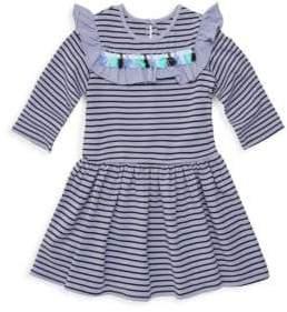 Little Girl's Striped Tassel Flare Dress