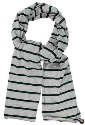 Donni Charm Fur-Trimmed Striped Scarf w/ Tags