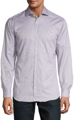 Ermenegildo Zegna Spread-Collar Long-Sleeve Shirt
