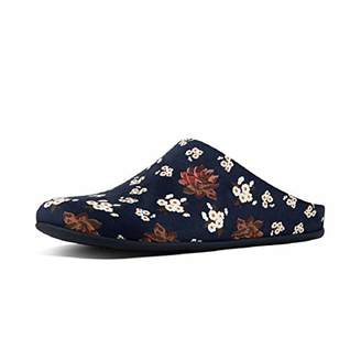 e9b11e83ad50f FitFlop Women's Chrissie Dark Floral Open Back Slippers, Royal Blue 043, ...