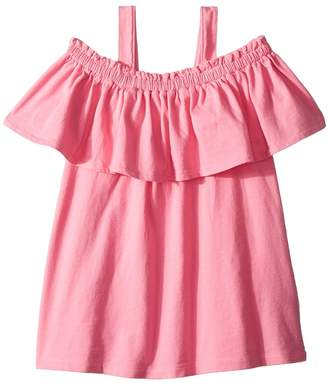 Hudson Acid Wash Knit Ruffle Top Girl's Clothing