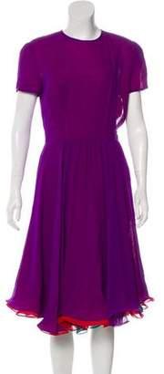 Albert Nipon Silk Midi Dress
