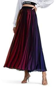 Marcelo Burlon County of Milan Women's Rainbow-Striped Pleated Skirt