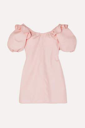Ellery Valeria Ruffled Cotton-twill Mini Dress - Pink
