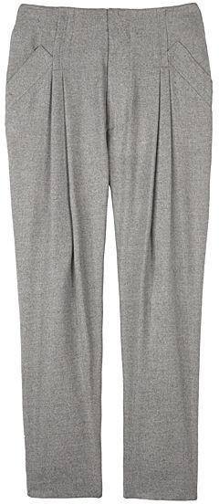 Alexander Wang Grey Wooly Drop Crotch Pants