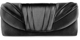 Jessica McClintock Pleated Satin Clutch