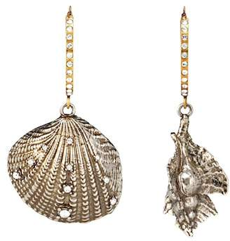 Alexander McQueen Shell hoop earrings