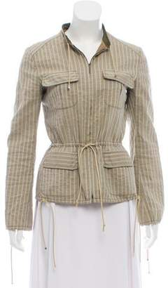 Philosophy di Alberta Ferretti Striped Long Sleeve Jacket
