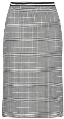 Banana Republic Petite Plaid Pencil Skirt with Vented Sides
