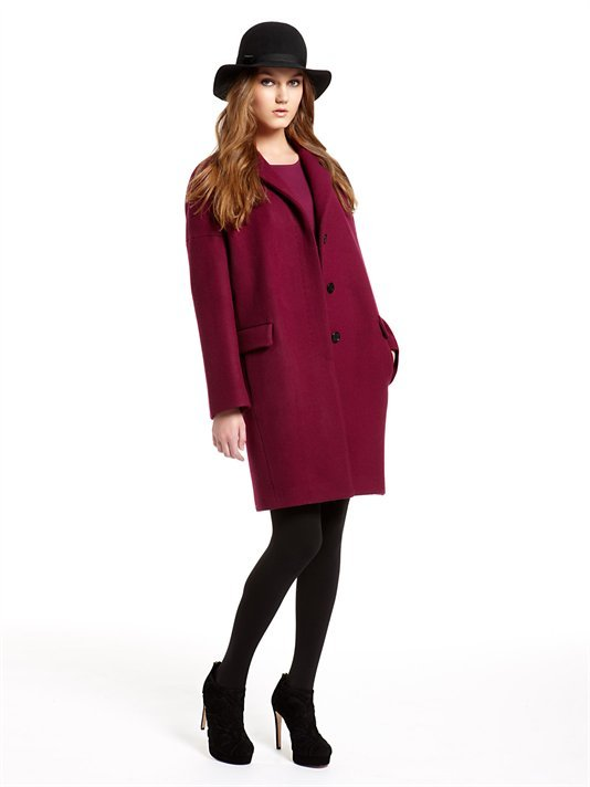 Runway Coat With Notch Collar