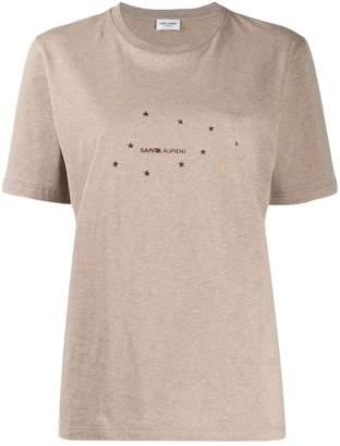 e563ecf2acd Saint Laurent star print logo t-shirt