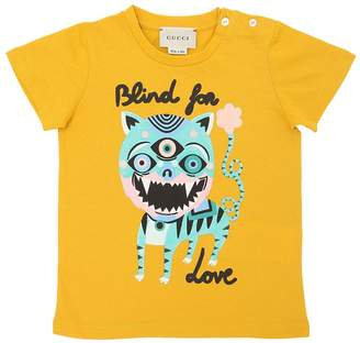 Gucci Blind For Love Cotton Jersey T-Shirt
