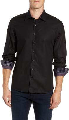 Stone Rose Contemporary Fit Waffle Texture Sport Shirt