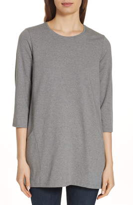 Eileen Fisher Crewneck Organic Cotton Tunic
