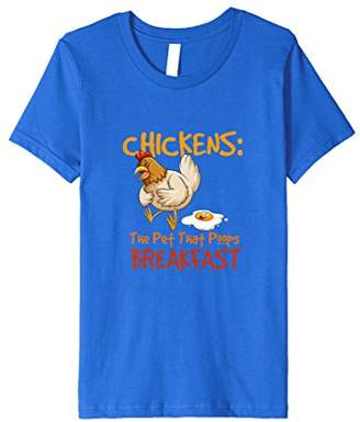 Funny Chicken The Pet That Poops Breakfast T-Shirt Farm Gift