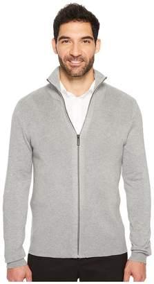Perry Ellis Solid Rib Full Zip Sweater Men's Sweater