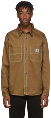 Carhartt Work In Progress Brown Chalk Shirt Jacket