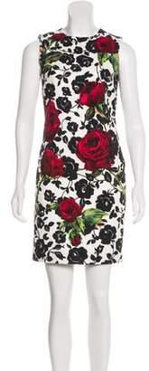 Dolce & Gabbana Rose Print Sleeveless Dress rose Rose Print Sleeveless Dress