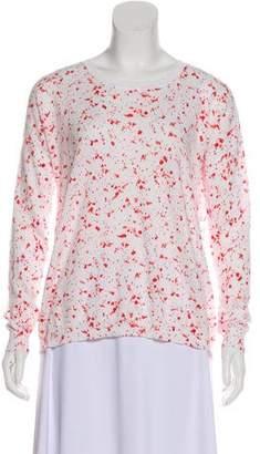 White + Warren Lightweight Printed Sweater