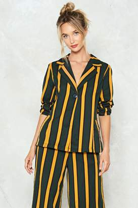 Nasty Gal Hit the Stripe Note Blazer