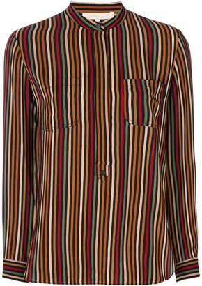 Vanessa Bruno striped mandarin collar shirt