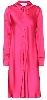 Valentino Silk-satin shirt dress