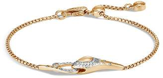 John Hardy 18K Yellow Gold Legends Cobra Diamond Pavé Pull Chain Bracelet - 100% Exclusive