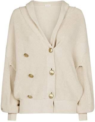 Brunello Cucinelli Cotton Chunky-Knit Cardigan