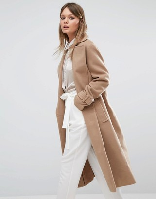Fashion Union Full Length Smart Over Coat $106 thestylecure.com