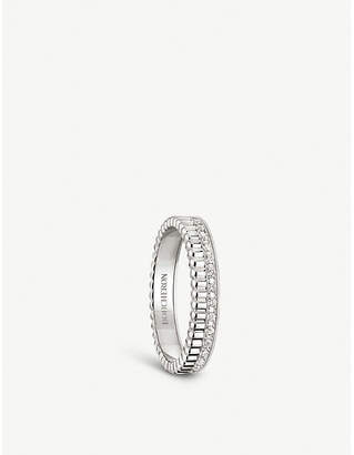 Boucheron Quatre Radiant Edition 18ct white-gold and diamond wedding band