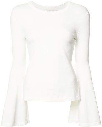 Milly flared sleeves blouse $275 thestylecure.com