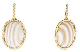 Kimberly McDonald 18K Striped Agate & Diamond Drop Earrings