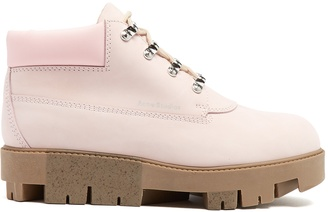 Tinne track-sole nubuck ankle boots