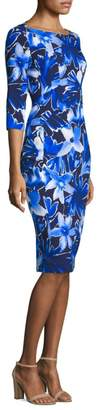 Michael Kors Floral Boat Neck Dress