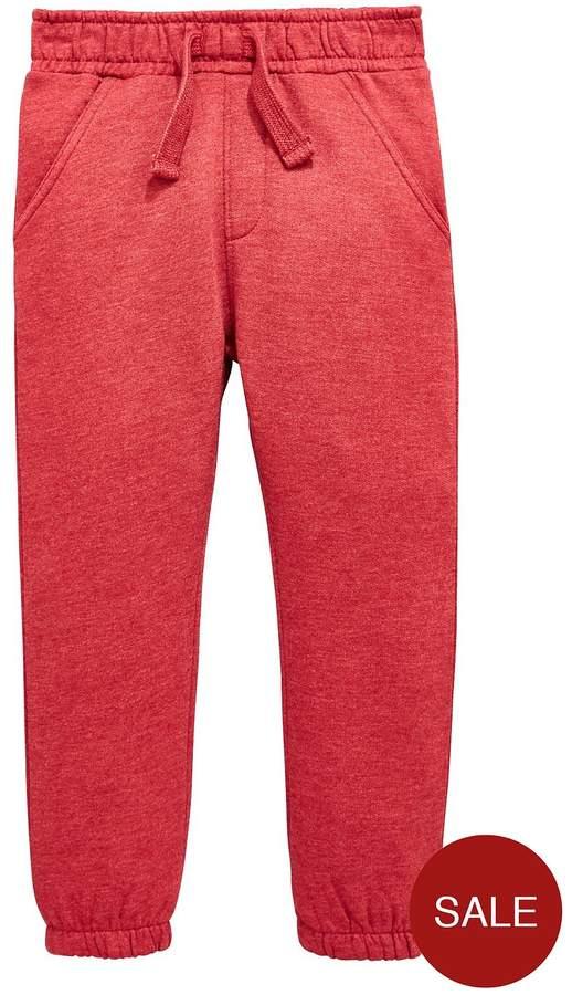 Mini V By Very Boys Red Marl Jogger