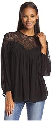 Love Sam Women's Lace Drape Top $61.99 thestylecure.com
