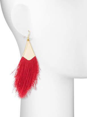 Nakamol Fringe Drop Earrings, Red